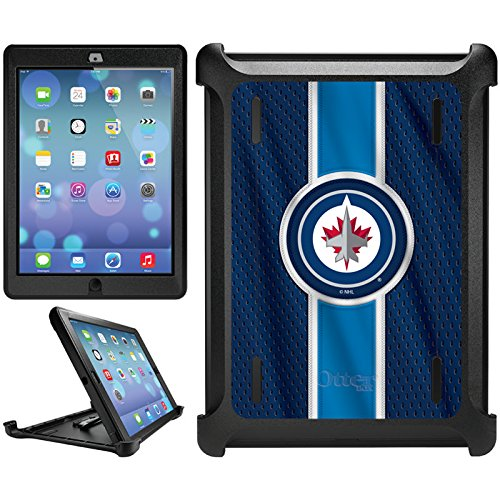 OtterBox iPad Air (5th Gen) Black Defender Series Case, Winnipeg Jets Jersey Stripe Design