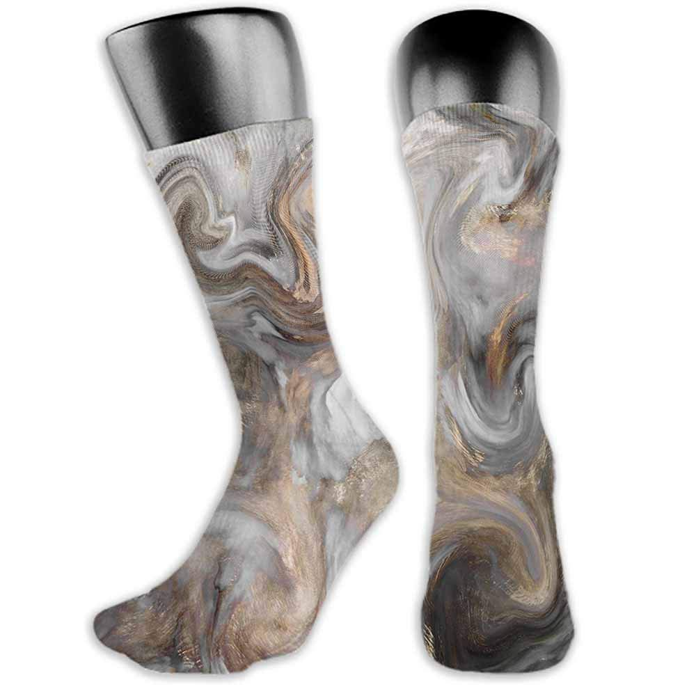 Summer 2019 Marble,Retro Style Paintbrush Colors in Marbling Texture Watercolor Artwork,Sand Brown Dust Pale Grey,socks for men under armour