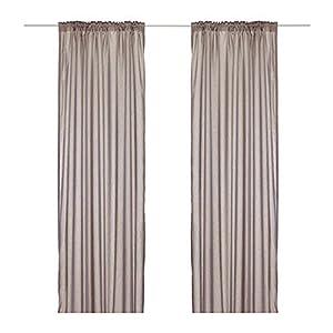Ikea Torhild Sheer Curtains 1 Pair Light Brown