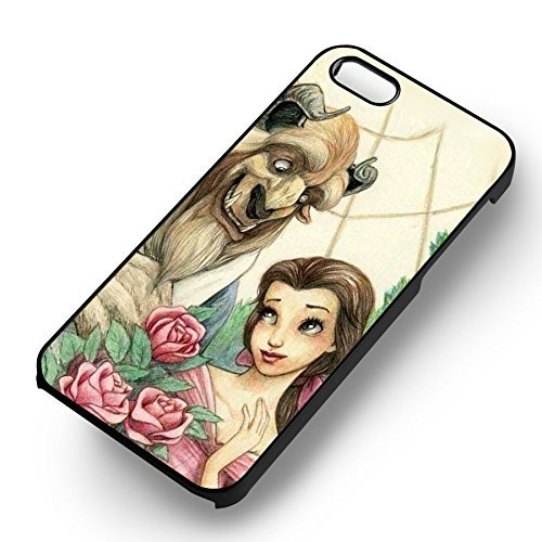 Beauty et The Beast pour Coque Iphone 6 et Coque Iphone 6s Case (Noir Boîtier en plastique dur) W9U6TL