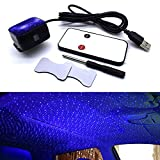 Car Ambient Star Light, Car Atmosphere Light Projector, USB 100mw LED Decorative Armrest Box Star Romantic Auto Roof Projection for Car/Home/Party (Blue/Control)