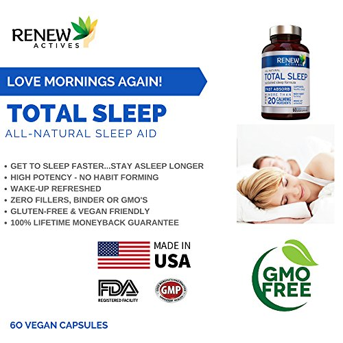 All Natural Sleep Aid Supplement. Non-Habit Forming Sleeping Pill. Our Guarantee is A Deeper, Longer & Restful Sleep! Starting Tonight Get the Peaceful & Natural Sleep You Deserve! by Renew Actives (Image #4)