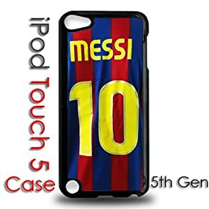 IPod 5 Touch Black Plastic Case - Messi Jersey Barcelona 10 FCB Futbol