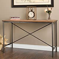 Modern Farmhouse Sofa Table Provides Vintage Style And Function. 48-Inch Long Console Suitable For Living Rooms, Bedrooms, And Office Spaces. Weathered Rustic Brown Hardwood Creates Timeless Feel.