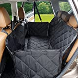 MOKOQI Pet Car Seat Cover with Side Flaps - Universal Waterproof Dog Back Soft Seat Covers Hammock Cat Car Bench Non-Slip Protector for Trucks SUV Car Family Travel