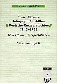 Oldenbourg Interpretationen Bd30 Kurzgeschichten Amazonde