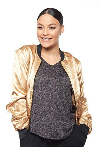 Womens Fashion Zipper Bomber T165223ST product image