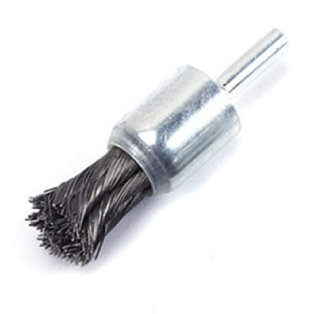 Steel Support D DOLITY 2pcs High Performance Knot Wire End Brush for Die Grinders or Drill Brush Dia 25 /& 20mm