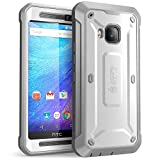 HTC One M9 Case, SUPCASE Full-body Rugged Holster Case with Built-in Screen Protector for HTC One M9 (2015 Release), Unicorn Beetle PRO Series - Retail Package (White/Gray)