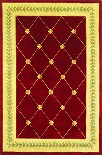 KAS Oriental Rugs Ruby Collection Trellis Area Rug, 30