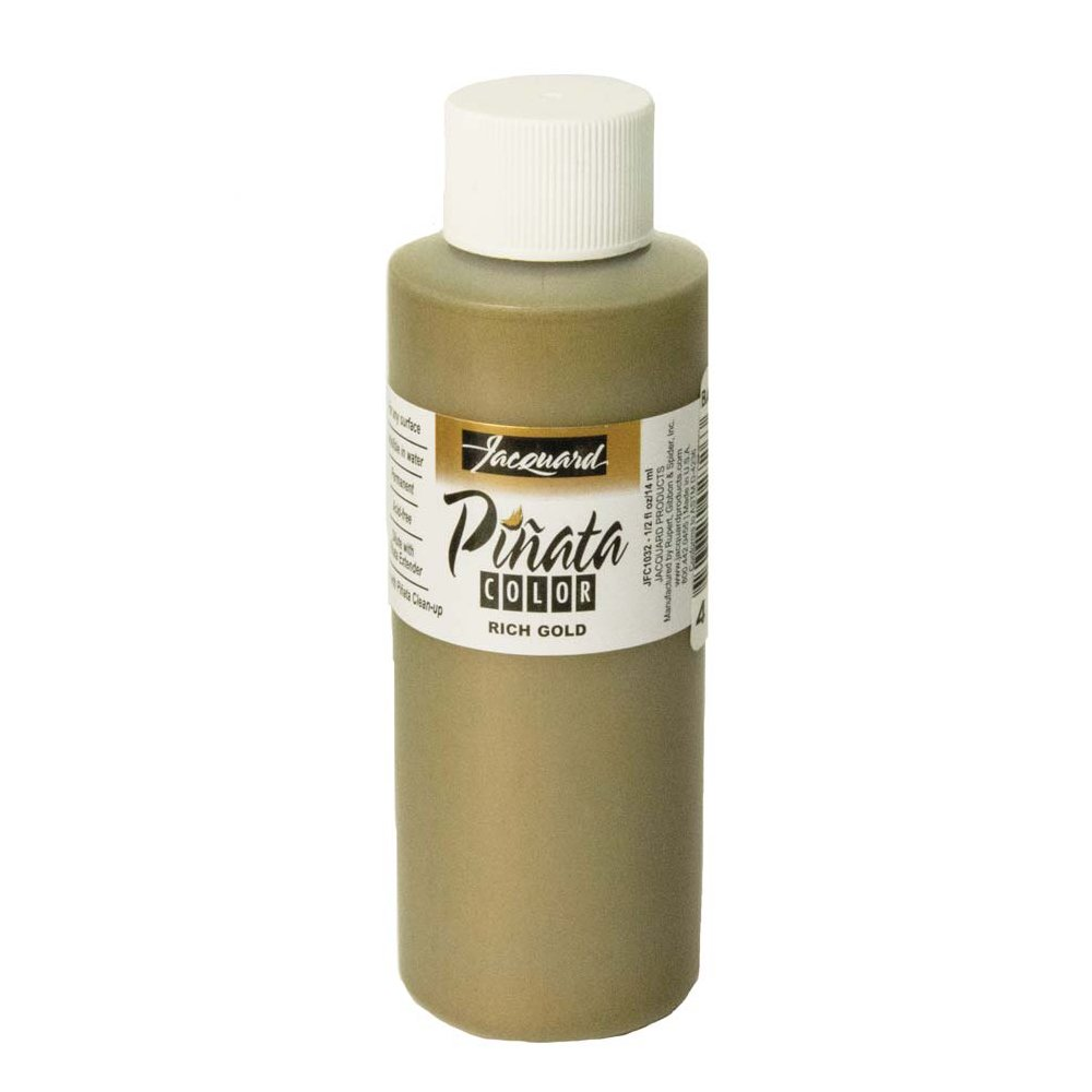 Pinata Rich Gold Alcohol Ink That by Jacquard, Professional and Versatile Ink That Produces Color-Saturated and Acid-Free Results, 4 Fluid Ounces, Made in The USA by Jacquard