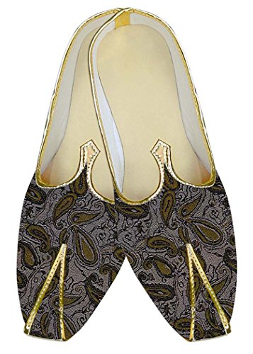 INMONARCH Mens Almond Polyester Wedding Shoes Olive Paisley MJ10559 Almond ufZGVH