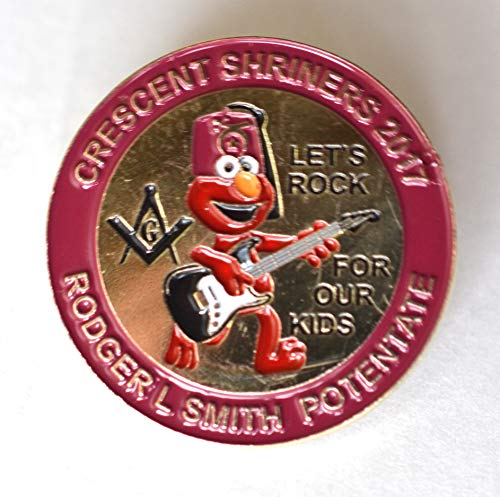 Crescent Shriners 2017 Guitar-Playing Elmo Muppet Let's Rock for Our Kids Pin (Rodger L Smith Potentate)