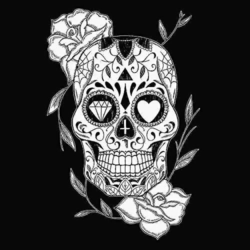 Borsa in cotone Nera Mexican Skull - Nero, Taglia Unica