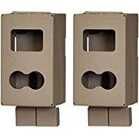 (2) CUDDEBACK CuddeSafe 3327 C & E Series Game Trail Camera Metal Security Cases