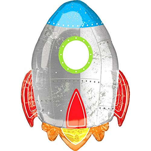 Anagram Blast Off Birthday Rocket Space Ship Foil Balloon