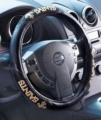 (NFL New Orleans Saints Massage Grip Steering Wheel Cover)