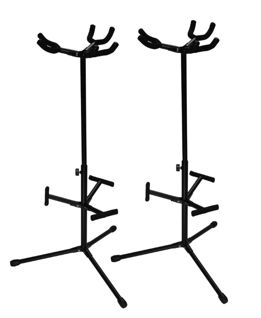 Ultimate Support JS-HG103 Triple Hanging-style Guitar Stand with Ergonomic ''Z'' Knob For Easy Height Adjustment - 2 Pack