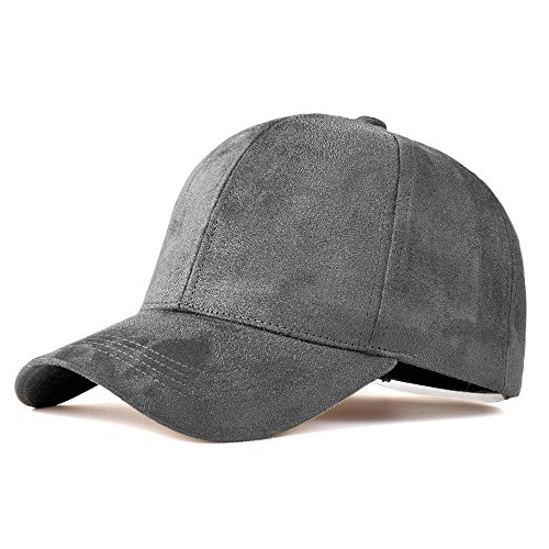 LIXYIT Snapback Caps Faux Leather Suede Baseball Cap Women Adjustable Casual Low Profile Dad Hat Men Black