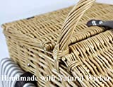 Willow Picnic Basket Set for 4 Persons with