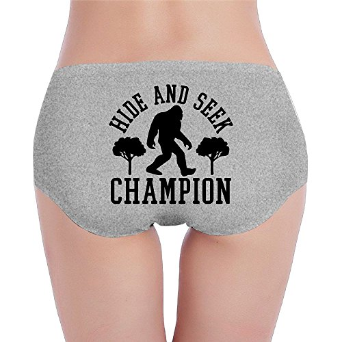 YZHBIon Bigfoot Hide and Seek Champion-1 Women's Comfort Low-Waist Brief Panty