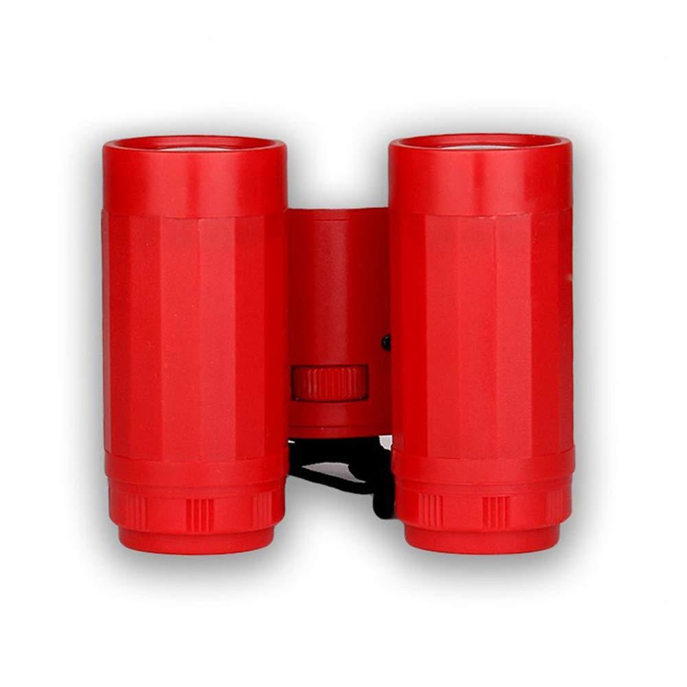 MIJNUX 1Pcs 2.5 X 26 Kid Children Magnification Toy Binocular Telescope + Neck Tie Strap,Red