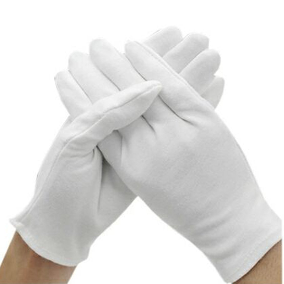15 Pairs White Cotton Gloves,Coin Jewelry Silver Inspection Gloves Working Gloves.White Gloves Bulk for Men Women Formal Costume,Large Size. (15 Pairs)
