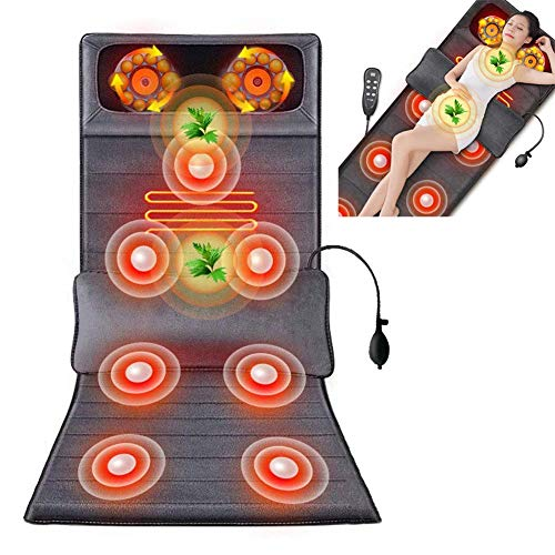 Amazing Heating pad Vibrating Massage Mat for Full Body – Vibrating Massager Pad with Heat | 27 Vibration Motor Mattress Pad for Neck, Back, Legs Pain Relief (Gray) 2019