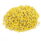 uxcell 1000Pcs 16 AWG 1.5mm2 Insulated Cord End Wire Ferrules Terminal VE1508 Yellow