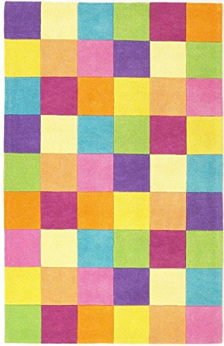 KAS Oriental Rugs Kidding Around Collection Girl's Color Blocks Area Rug, 2' x 3' - Kidding Around Collection