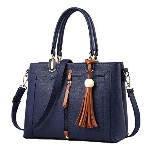 Señoras Europeas Y Americanas Estilo Bolso De Moda Salvaje Bandolera Messenger Bag Blue