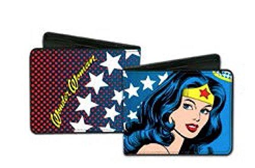 Top 40 Characters Black Leather Wallets - Dc Comics - Marvels - Pokemon (wonder woman stars leather - Marvel Wonder Woman