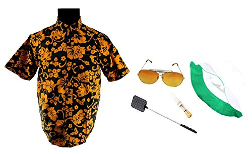 Fear & Loathing Las Vegas Shirt Hat Orange Glasses Cigarette Holder Swatter Duke - In Vegas Las Fear And Loathing Glasses
