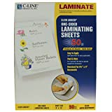 C-Line Super Heavyweight Cleer Adheer Laminating Film Sheets, Clear, 9 x 12 Inches, 50 per Pack (65003)