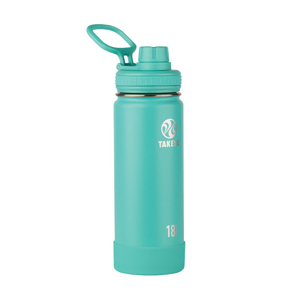 Takeya Actives Insulated Stainless Water Bottle with Insulated Spout Lid, 18oz, Teal