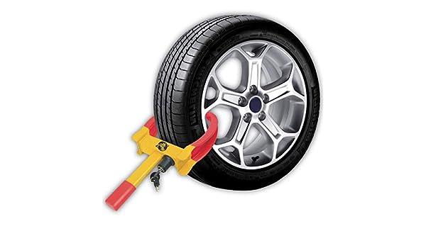 Crystals - Abrazadera para Rueda de neumático de 7 a 11 Pulgadas para Coche, Furgoneta, Caravana, Remolque, con 2 Llaves: Amazon.es: Coche y moto