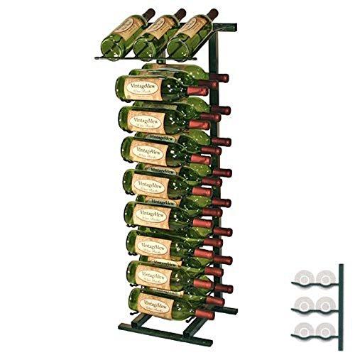 VintageView 27-Bottle Display Wine Rack