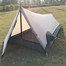 Ultralight Backpacking Tents for Camping Hiking 1 Person Portable Waterproof Lightweight Outdoor A Frame Single Bivy Sack Only 2.6lbs Scan QR Code to Look Set Up Instruction