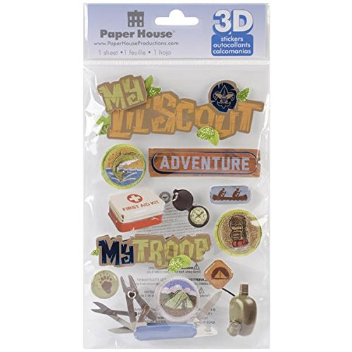 Paper House Productions STDM-152E 3D Stickers, Little Boy Scout
