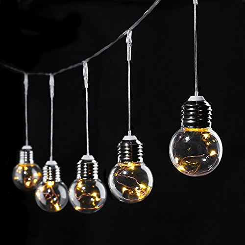 Plastic Indoor String Lights : LE 20ft LED Globe Copper Wire String Lights 25 Units G45 Bulbs - Import It All