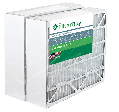 2 FilterBuy 20x25x6 Aprilaire Space Gard 201 Compatible Pleated AC Furnace Air Filters. AFB Platinum MERV 13.