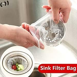 Bluelover 30pcs Sink Filter Bag Food Residue Garbege Filter Strainer Bag Net Kitchen Tool