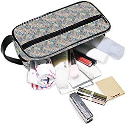 Jacksome Patchwork Packing OrganizerStorage Bag Travel Lingerie Pouch Toiletry Organizer Handbag Cosmetic Makeup Bag Luggage Storage Case For Cosmetics Toiletries Hotel Home Bathroom Airplane
