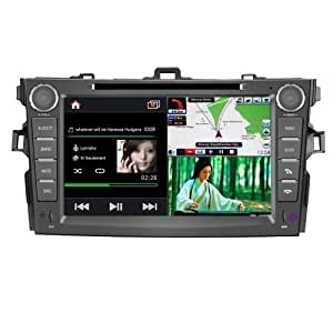 "Koolertron For Toyota Corolla 2007-2010 in Dash Car DVD Player with GPS Navigation System 8"" HD Touchscreen - iPod PIP RDS Virtual - CDC"