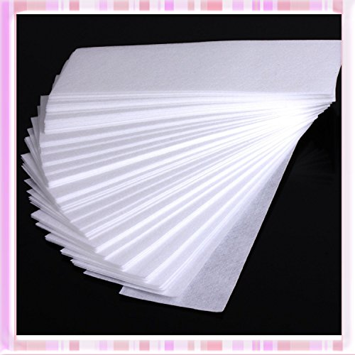 Adecco LLC 100 PCS Hair Removal Depilatory Non-woven Epilator Wax Waxing Strip Paper