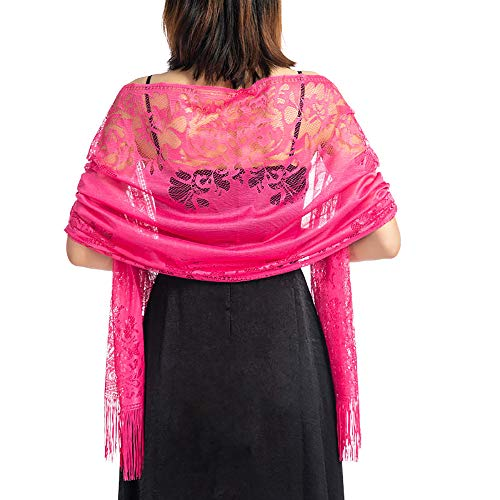 Women's Lace Scarf Lightweight Shawl Large Wrap Soft Evening Coverup