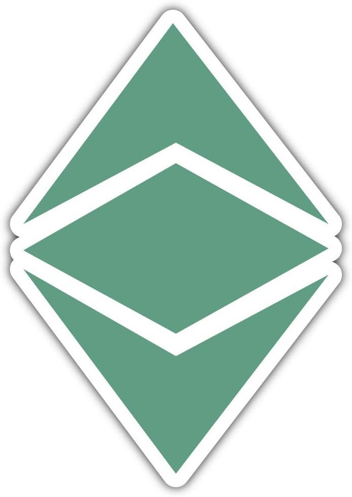SkyLabel Ethereum Classic Cryptocurrency Icon Bumper Sticker Vinyl Art Decal for Car Truck Van Window Bike Laptop