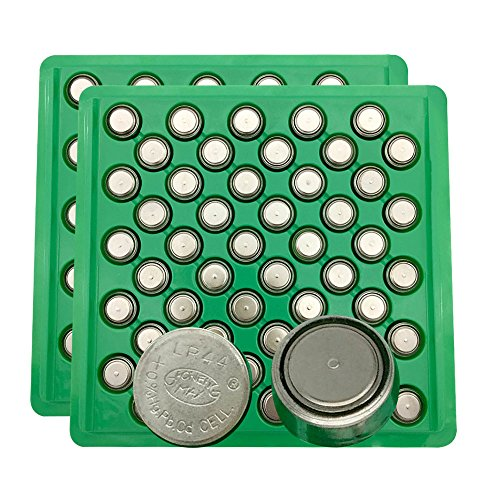 MJKAA LR44 1.5V Button Cell Battery(Pack-100)(Replaces:CR44/SR44/357/SR44W/AG13/G13/A76/A-76/etc.)