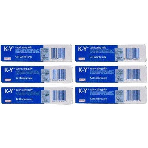 K-Y Six Packs Of Gel Lubricating Sterile Jelly 82G
