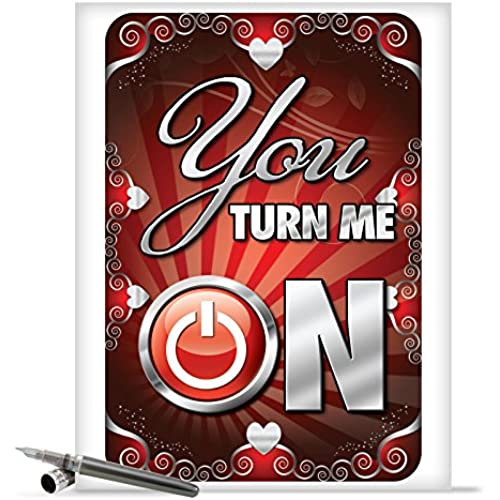 J2139 Jumbo Funny Valentine's Day Card: You Turn Me On With Envelope (Extra Large Version: 8.5 x 11) Sales
